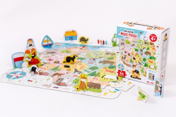 CzuCzu Ale puzzle Mapa Polski 64