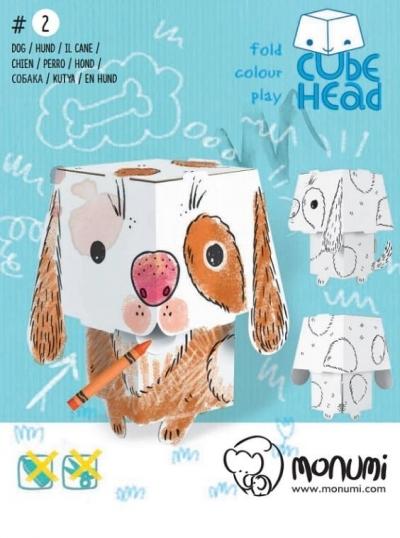 Pies. Cube Head. Złóż i pokoloruj praca zbiorowa