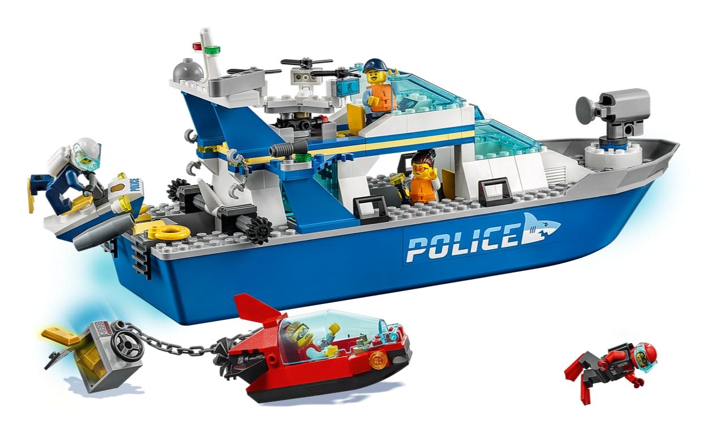 Lego City: Policyjna łódź patrolowa (60277)