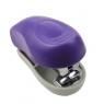 Zszywacz plastikowy mini fluo, 8 kartek - fioletowy