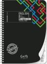Kołozeszyt A4 w kratkę 80 kartek Black&color Język angielski