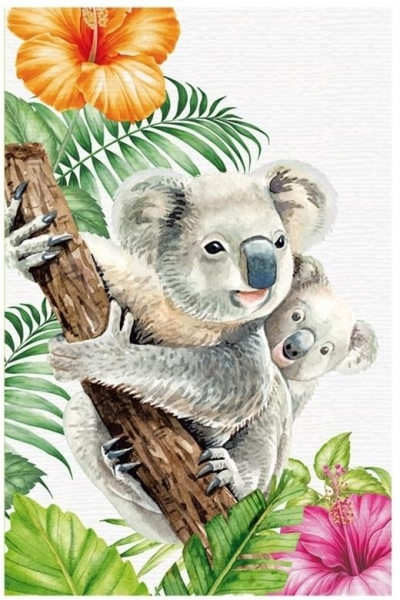 Notatnik ozdobny 105x165/64K kratka TW Koala