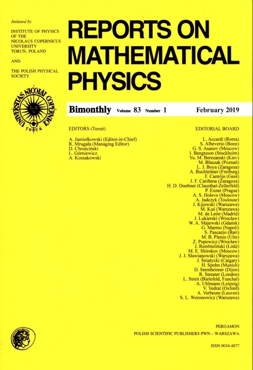 Reports on Mathematical Physics 83/1 Pergamon