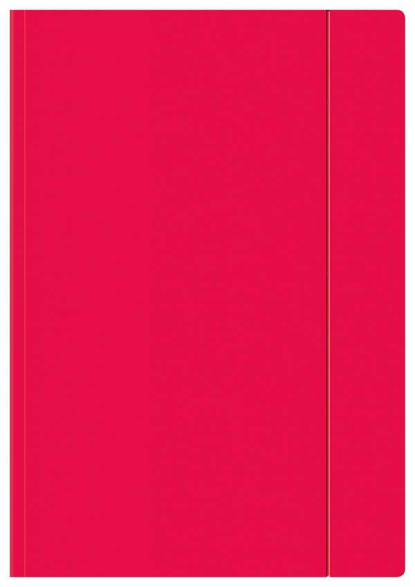 Teczka z gumką A4+ - Fluo różowa (357145)