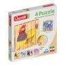 Drewniane klocki puzzle Farm 6 elementów