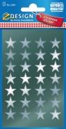 Naklejki srebrne gwiazdy