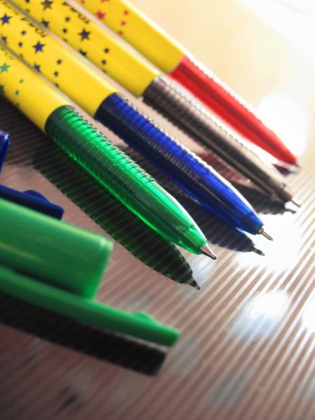 Długopis w gwiazdki Sunny - niebieski (TO-050)