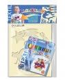Farby do tkanin 6 kolorów - zestaw dla chłopców