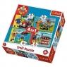 Puzzle 4w1 Strażak Sam na ratunek (34311)