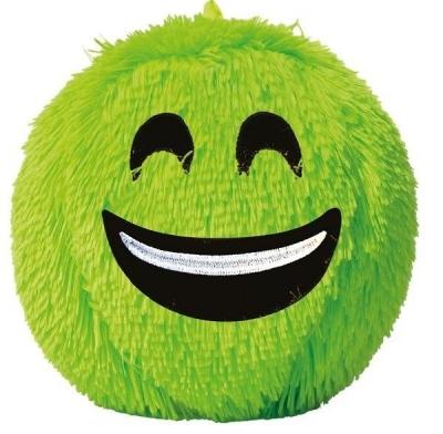 Piłka Fuzzy Ball S'cool Smile neonowa XL