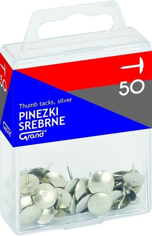 Pinezki Grand srebrne 50 sztuk