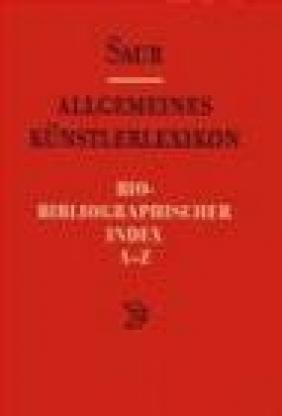 Allgemeines Kunst. Bio-Biblio v 1 Index A-Z