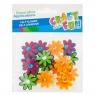 Ozdoba dekoracyjna kwiaty filc samoprzylepne - 16 szt. (439261)