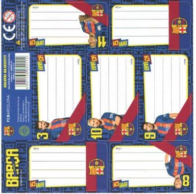 Nalepki na zeszyty FC Barcelona