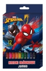Kredki ołówkowe jumbo 12 kolorów Spider Man