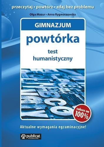 Gimnazjum Powtórka Test humanistyczny Mazur Olga, Rygmaczewska Anna