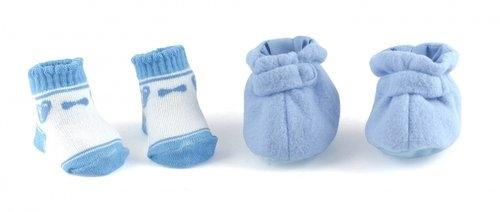 Niebieskie buty i skarpetki dla lalek do 46 cm