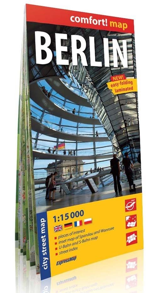 Berlin laminowany plan miasta 1:15 000 2014