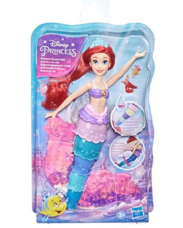 Lalka Disney Princess Rainbow Tęczowy ogon Syrenki Arielki (F0399)