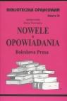 Biblioteczka Opracowań Nowele Opowiadania Bolesława Prusa