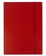 Teczka A4 kartonowa z gumką czerwona 300g D.RECT