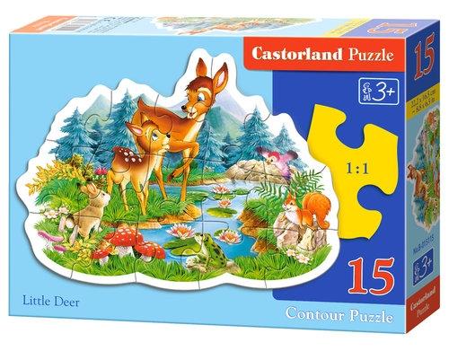 Puzzle konturowe Little Deer 15 elementów (015115)