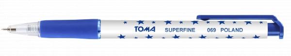 Długopis automatyczny w gwiazdki Superfine (TO-069 12)