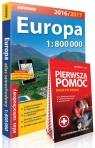 Europa atlas samochodowy 1:800 000 + Pierwsza Pomoc