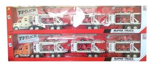 Duża laweta do przewozu aut straż pożarna 100cm mix