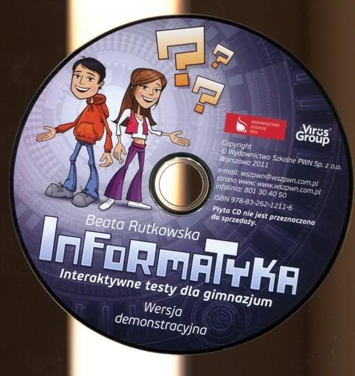 Informatyka CD Interaktywne testy dla gimnazum Rutkowska Beata