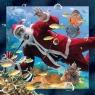 Pocztówka 3D Nurkujący Mikołaj