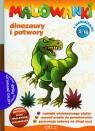 Malowanki 5 Dinozaury i potwory + pisak z naklejkami