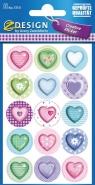 Naklejki papierowe. Pastelowe serca (57511)