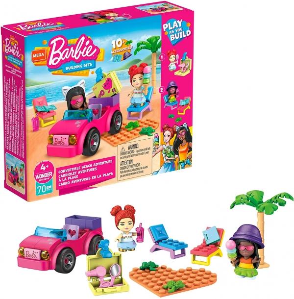 Mega Construx: Barbie, Plażowanie w Malibu - Zestaw klocków + 2 figurki (GWR79)