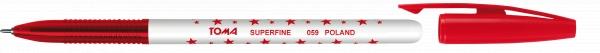 Długopis w gwiazdki Superfine - czerwony (119896)