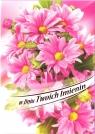 Karnet B6 Kwiaty W Dniu Twoich Imienin FF1278