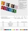 Segregator dźwigniowy Vaupe fck okuty A4 różowy (062/11)