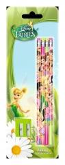 Ołówki Disney Wróżki 4 sztuki z temperówką