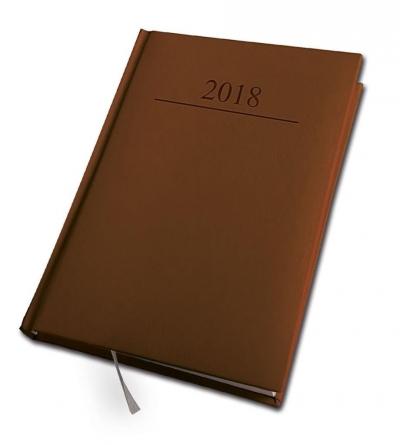 Kalendarz 2018 A5/320 Agenda Brązowy DAN-MARK