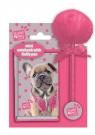 Notesik i długopis z pomponem Studio Pets Pies różowy (PES-3702)