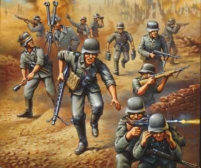 REVELL German Tankgrenadiers WW II