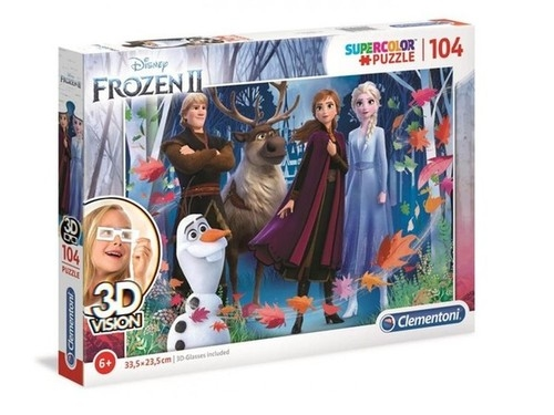 Puzzle SuperColor 3D Vision 104 Frozen 2 (20611)