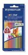 Noris club kredki trójkątne 12 sztuk