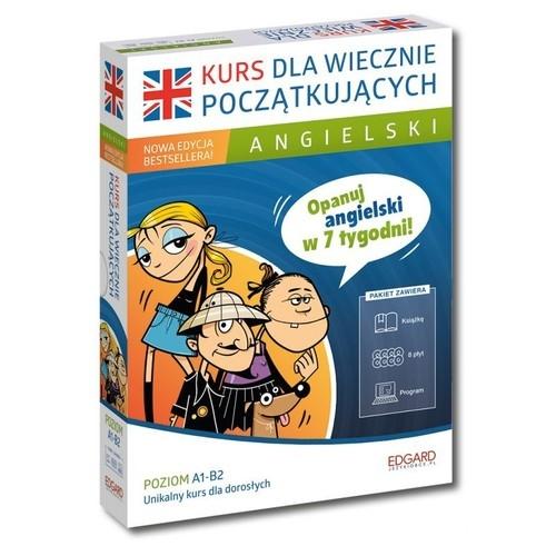 Angielski Kurs dla wiecznie początkujących Poziom A1-B2 + 8CD Wiśniewska Katarzyna