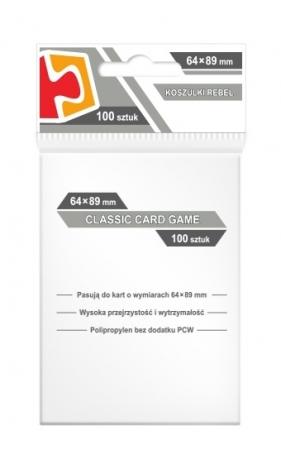 Koszulki na karty Rebel (64x89 mm) Classic Card Game, 100 sztuk