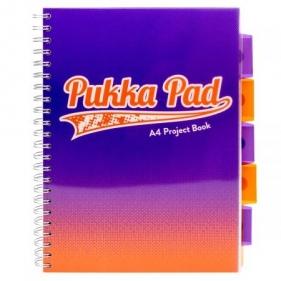 Kołozeszyt A4/100k kratka Pukka Pad Project Book Fusion - fioletowy (8411-fus)