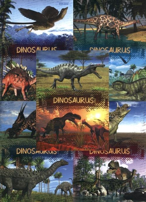 Zeszyt A5 Top-2000 w kratkę 16 kartek Dinosaurs 20 sztuk mix
