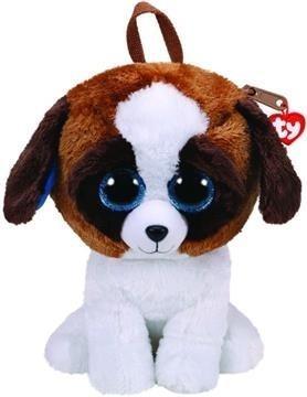 Maskotka Ty Fashion plecak Duke - brązowy-biały pies (95011)