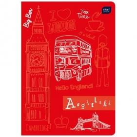 Zeszyt A5/60 kartkowy w kratkę - j. angielski