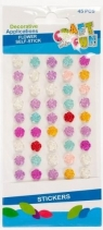 Ozdoba dekoracyjna samoprzylepna kwiaty 45el